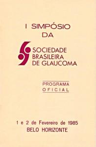 Livro Programa do I Simpósio da SBG