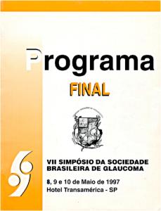Programa Oficial do VII Simpósio da SBG