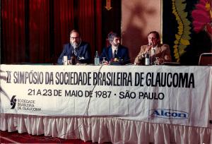 Da esquerda para a direita:  Ralph Rosenthal, Paulo Augusto de Arruda Mello  e  Humberto de Castro Lima.